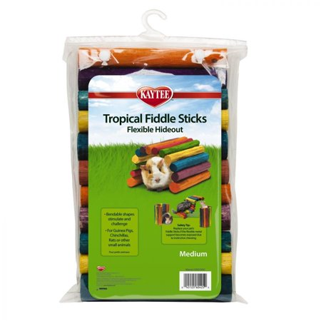 - Kaytee Tropical Fiddle Sticks Flexible Hide Out Medium (12 Long x 7 Wide) - Pack of 2