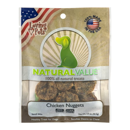 Loving Pets Natural Value Chicken Nuggets, 1.5 OZ