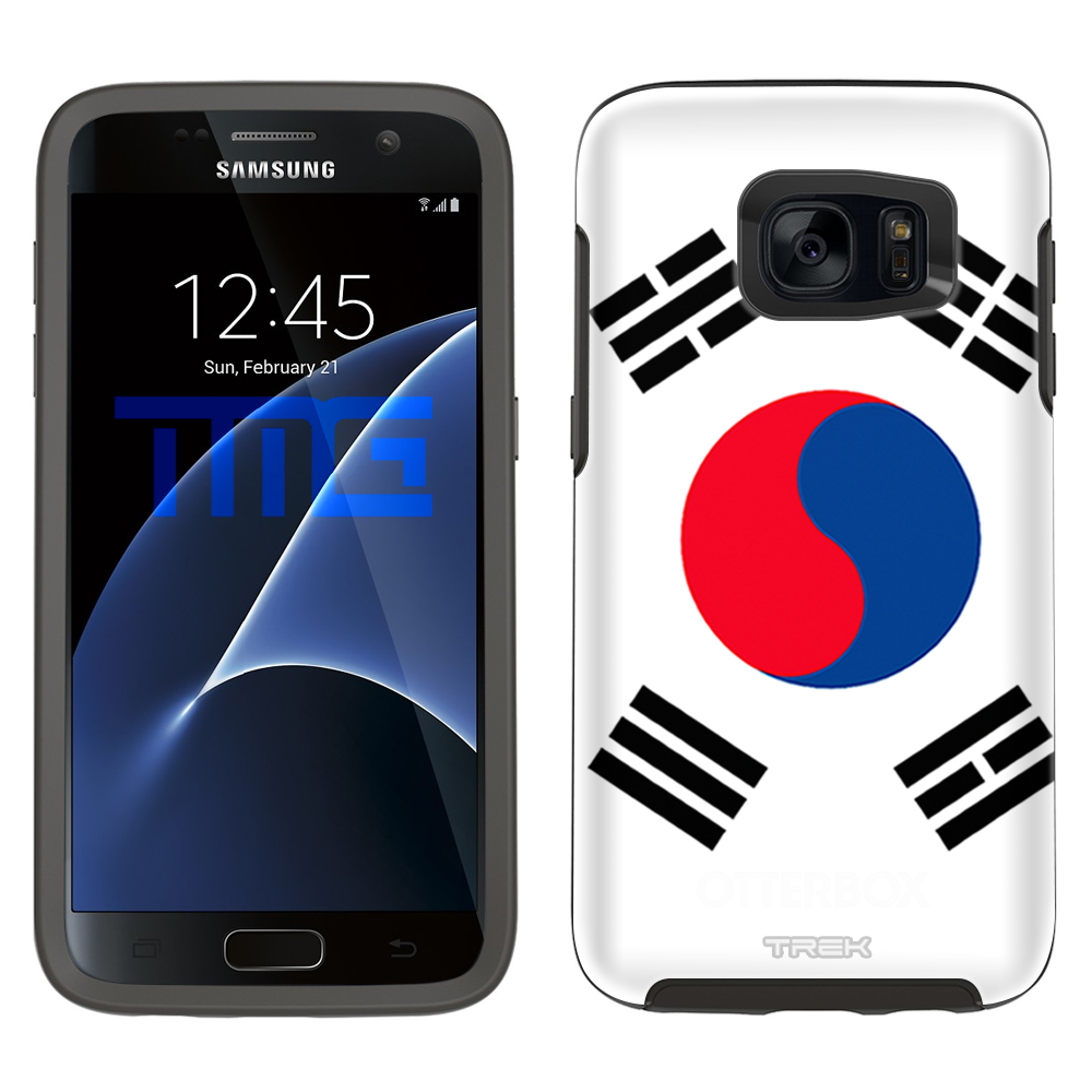 Skin Decal for OtterBox Symmetry Samsung Galaxy S7 Case South Korea Flag by Trek Media Group