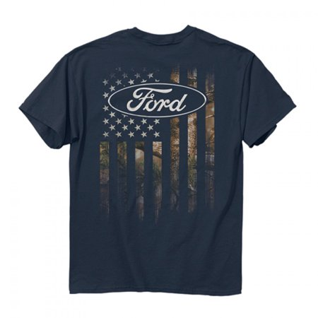 Buckwear Ford Camo Accent Flag Ss T Shirt   Blue