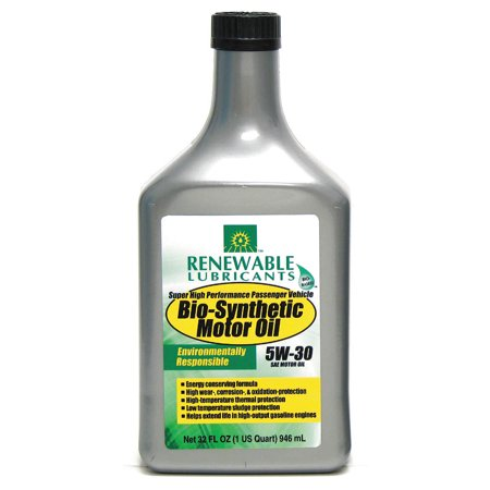 Renewable Lubricants Engine Oil  Bio Synthetic  1 Qt   5W30 85121