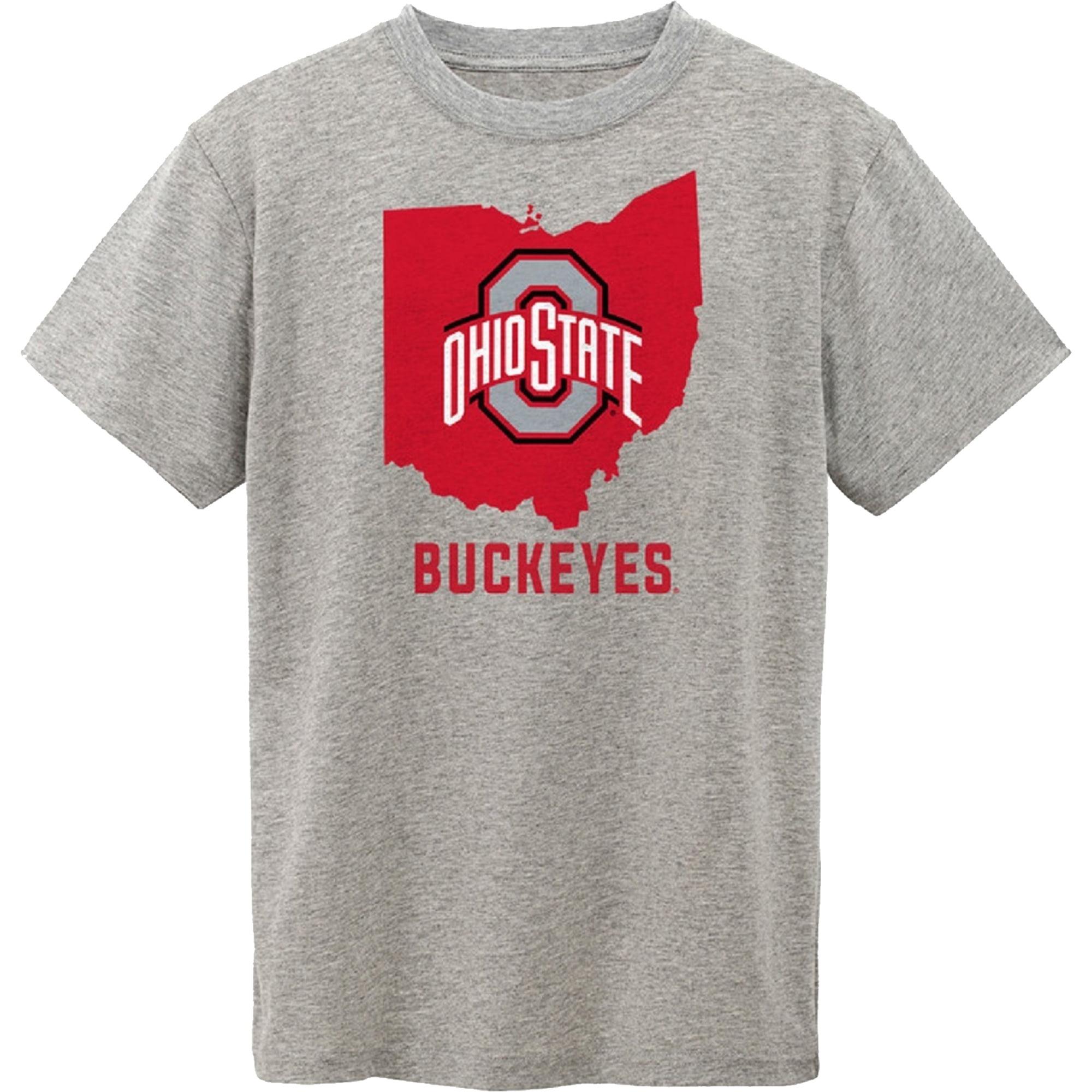 Youth Gray Ohio State Buckeyes State T-Shirt