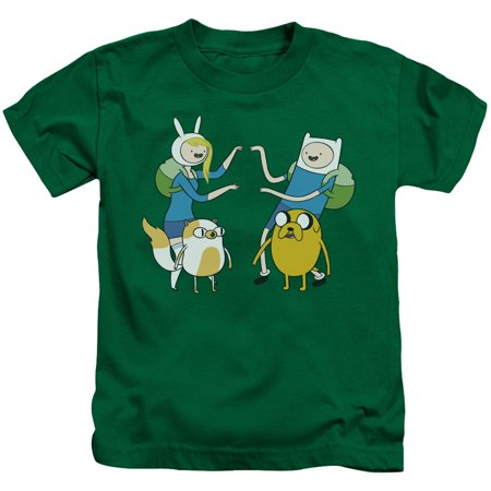 Adventure Time Boys' Meet Up Childrens T-shirt Kelly Green](Childrens Clothing Usa)