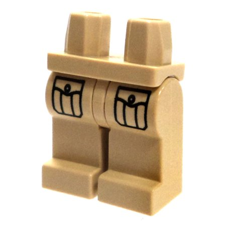 Lego Minifigure Parts Tan With Pockets Loose Legs  Loose
