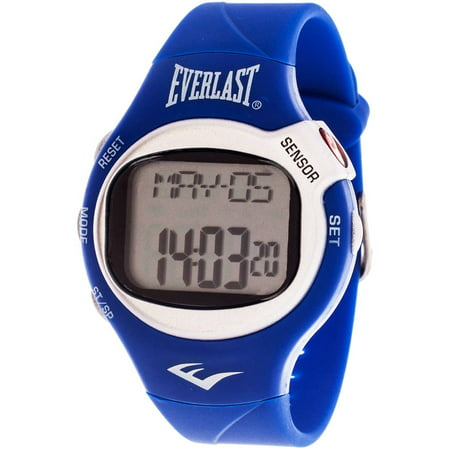 Everlast HR5 Finger-Touch Heart Rate Monitor Watch, Blue Plastic Strap