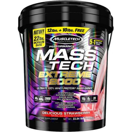 MuscleTech Mass Tech Extreme Vanilla Milkshake Weightgainer, 22 Pound