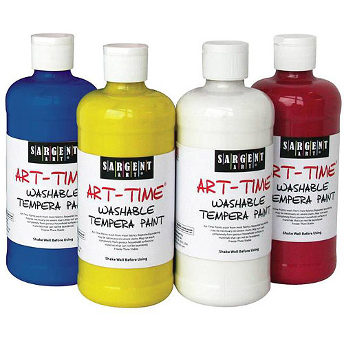 Sargent Art Non-Toxic Washable Tempera Paint, 1-Pint, Set of 12
