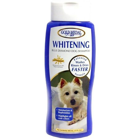 Gold Medal Whitening Blue Diamond Dog Shampoo with Cardoplex, 17 oz