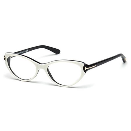 5c7ba714c0c Tom Ford Womens FT5285-024 Eyeglasses White Black Full Rim Frames - www. lesbauxdeprovence