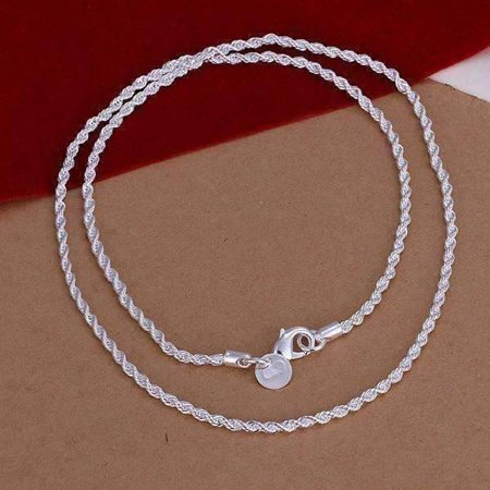Silver Diamond Cut Rope (ON SALE - 2.5MM Diamond Cut Silver Rope Chain 16-24 inches Silver /)