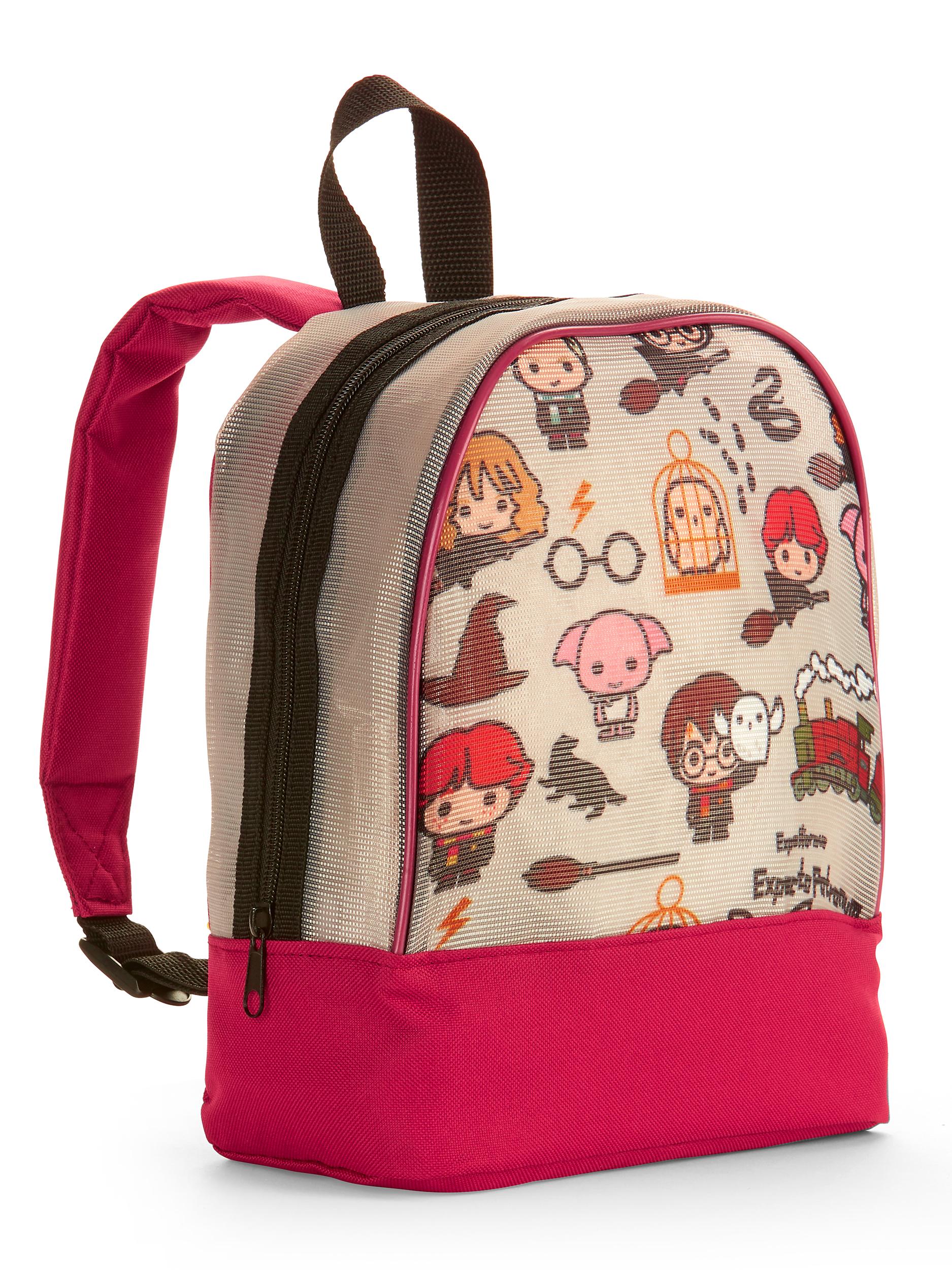 Chibi Style Harry Potter Characters Mesh Mini Backpack