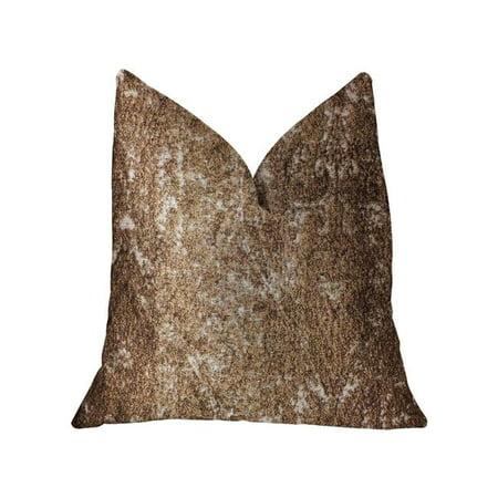Plutus PBRA2321-2026-DP Chestnut Crush Brown Luxury Throw Pillow, 20 x 26 in. Standard - image 3 of 3