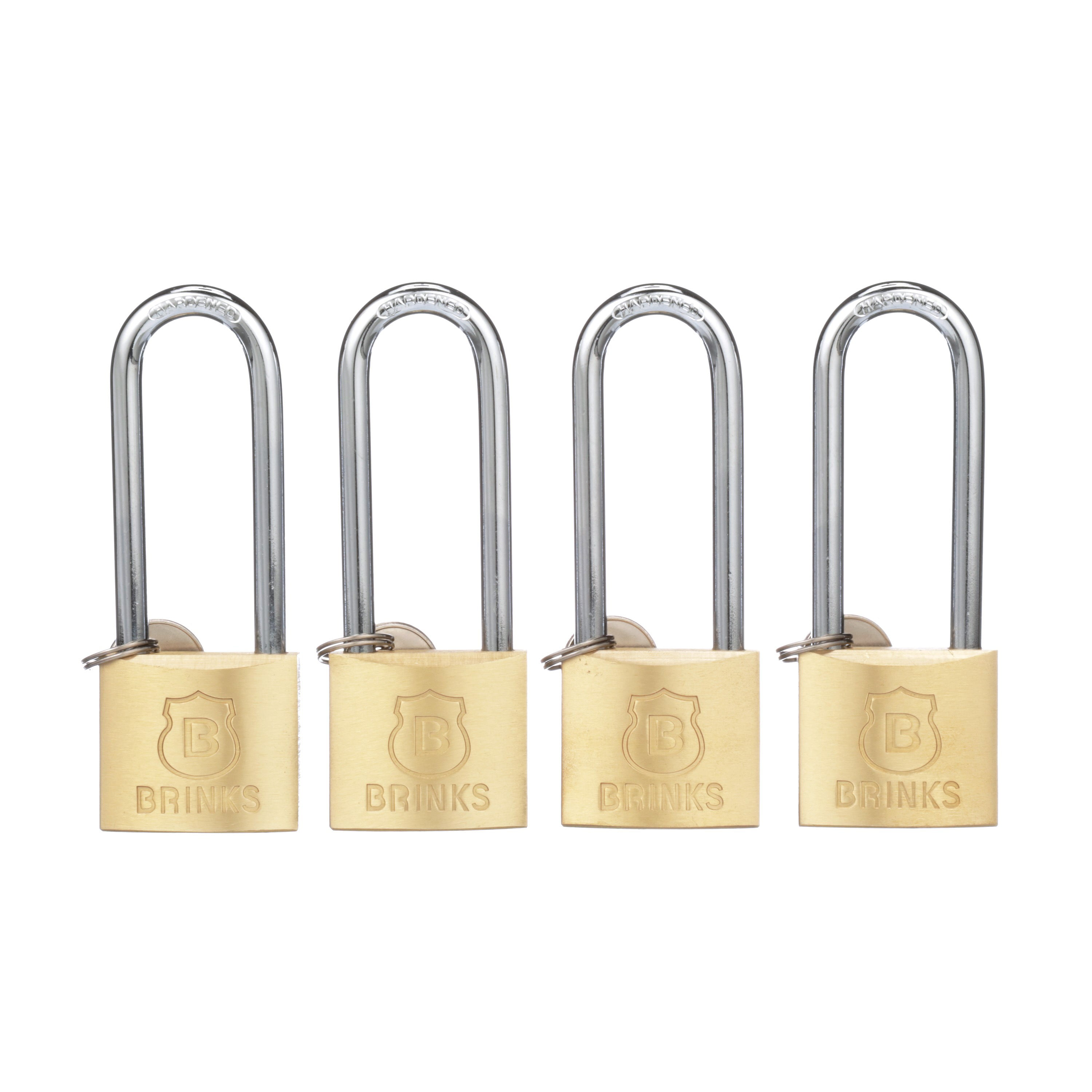 Brink's 40mm Long Shackle Solid Brass Padlock by Hampton Products Int'l Corp.