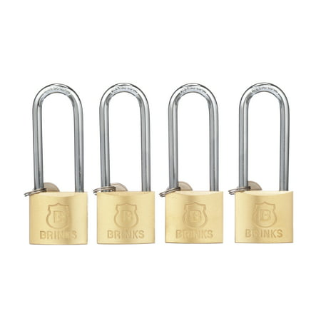 Brink's 40mm Long Shackle Solid Brass (0.5 L Shackle Padlock)