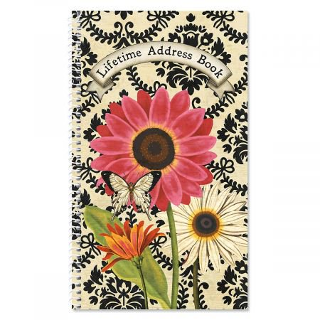 french sunflower lifetime address book 72 page soft cover telephone
