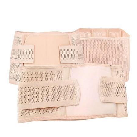 d519f32252 3 in 1 Postpartum Support Recovery Belly Wrap Waist Pelvis Belt Body Shaper  Postnatal Shapewear - Beige-02 (M) - Walmart.com