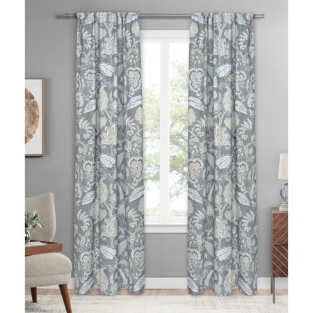 - Mainstays Floral Leaves Single Curtain Panel