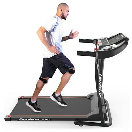 Famistar W500C Folding Electric Treadmill Motorized Running Machine, Built-in Speaker, 12 Preset Programs