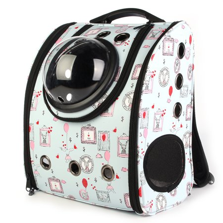 Portable Lightweight Waterproof Space Capsule Pet Carrier Backpack Shoulder Bag for Cats Petite Dogs & Medium Small Animals,Pet Bubble Dome Traveler Knapsack Multiple Air Holes