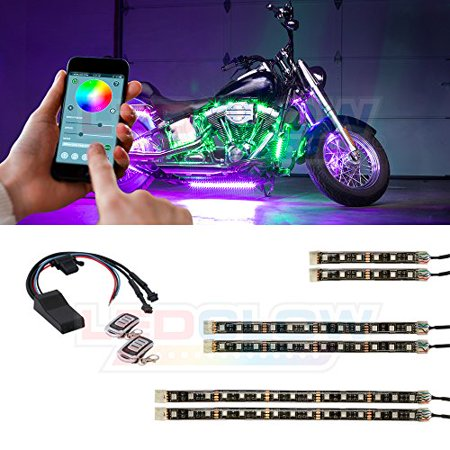 LEDGlow 6pc Advanced Million Color SMD LED Motorcycle Light Kit with Smartphone Control