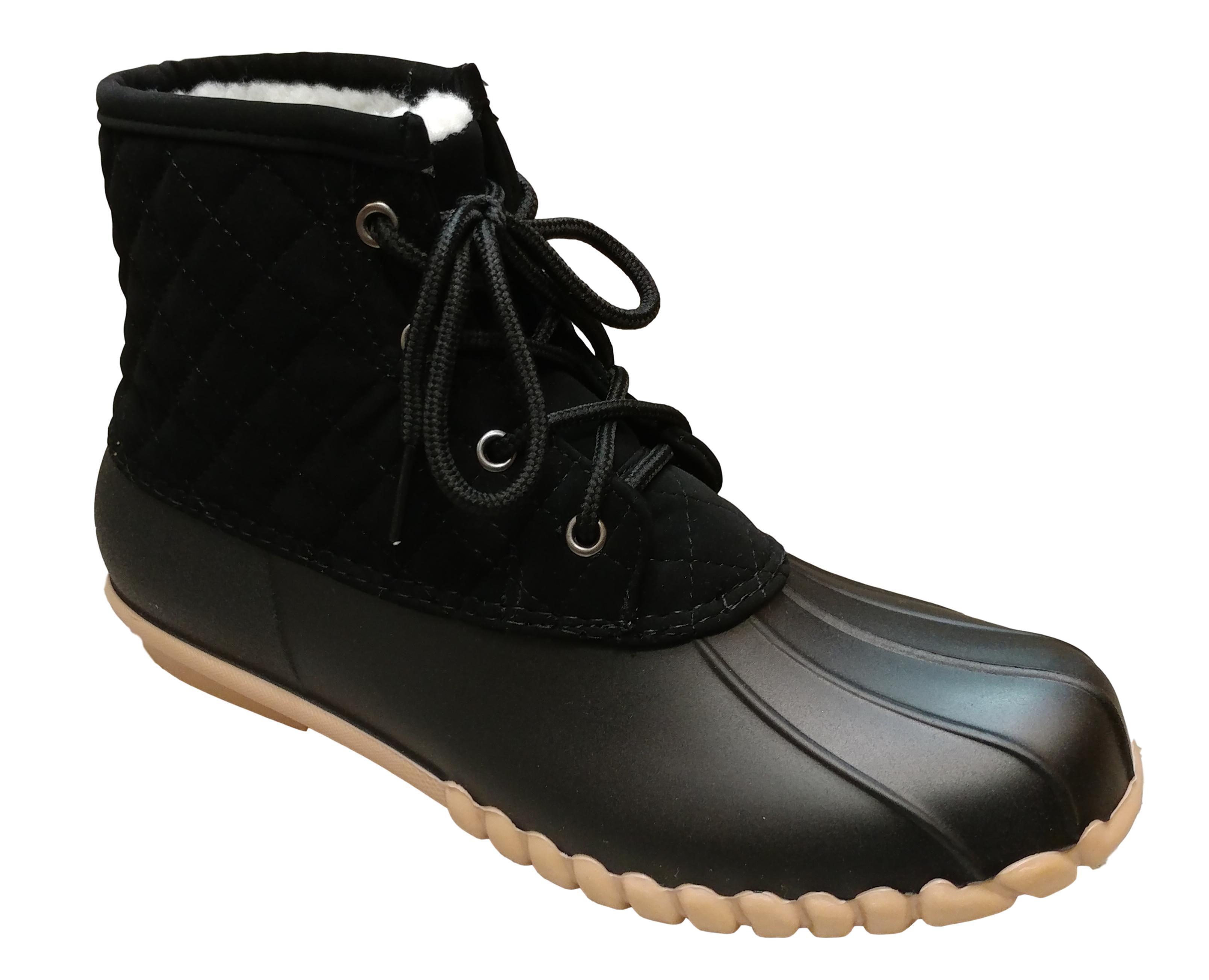 Olem - Outwoods Women's Autumn 12 Black Nubuck Ankle High Duck Boot with  Faux Fur Lining Size: 8, Width: Medium - Walmart.com