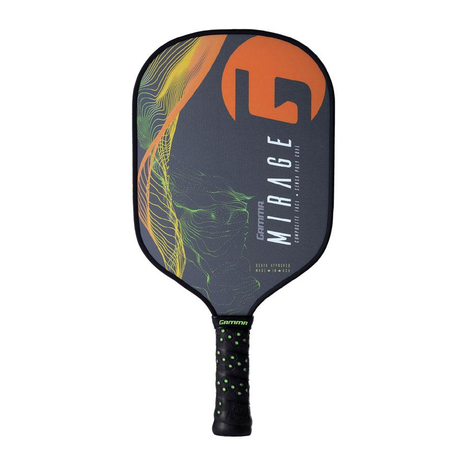 Gamma Mirage Pickleball Paddle - Grey/Orange/green