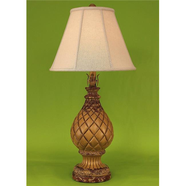 coast lamp 14c8b aged yellow gold regal pineapple table lamp 33 in - Pineapple Lamp