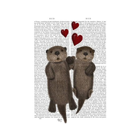 Otters Holding Hands Print Wall Art By Fab - Hand Print Art