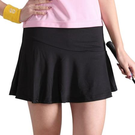 - TopTie Women's Team Gym Ultra Skirt, With Pockets, Adult Size-Black-XL