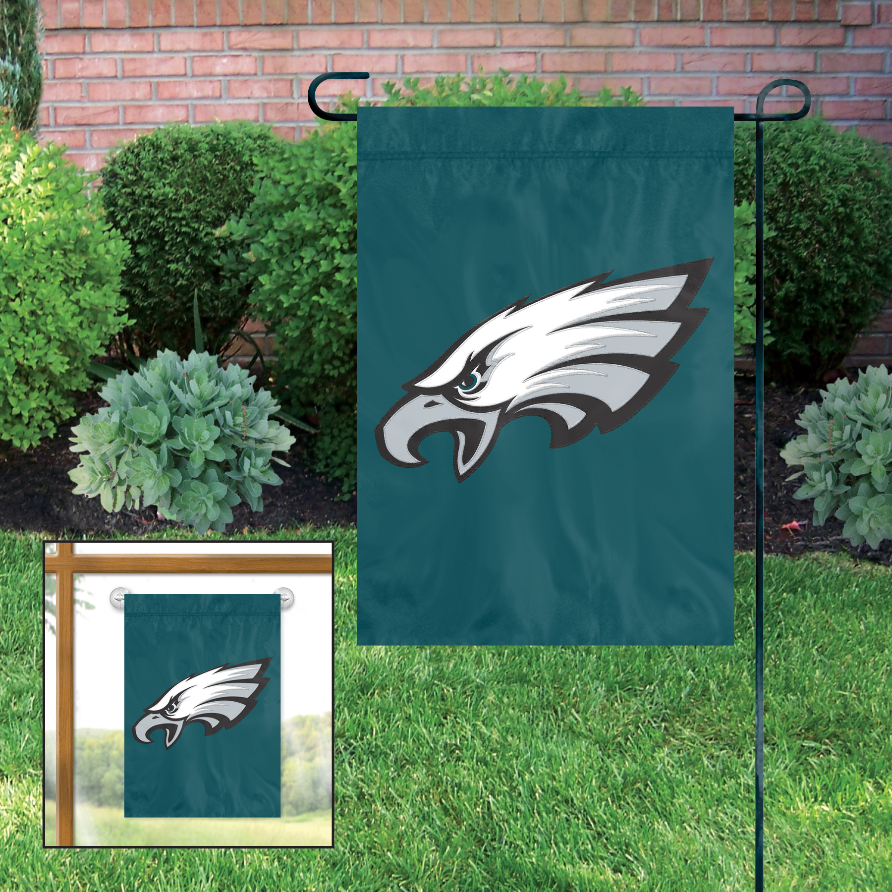 PHILADELPHIA EAGLES GARDEN / CAR WINDOW FLAG