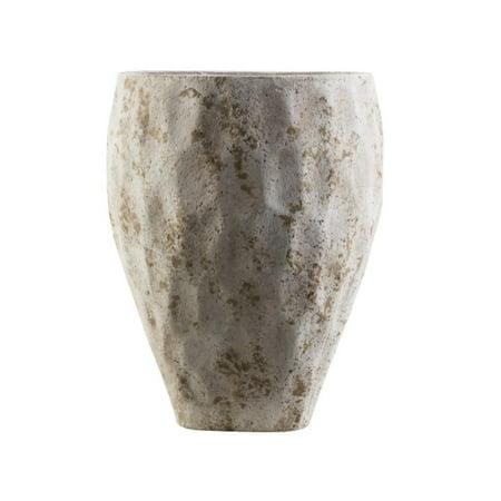 Gray And Brown Honeycomb Style Decorative Roman Dune Ceramic Outdoor Pot 14 2
