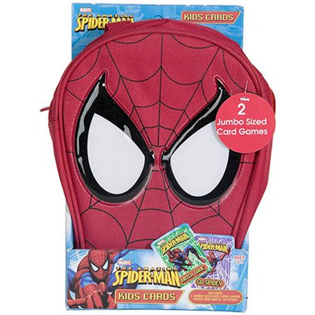 Spiderman 2 Jumbo Sized Kids Card Game Set: Spider Man Match + Go Spidey plus Mini-Backpack](Avengers Cards)