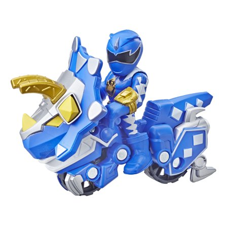 Playskool Heroes Power Rangers Blue Ranger and Raptor (Power Rangers Cycles)
