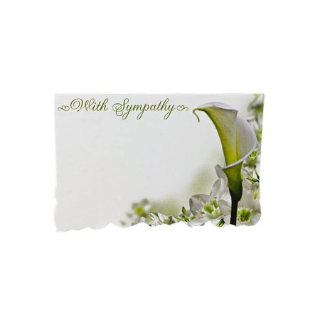 With Sympathy 50 pack 2-1/4 inches x 3-1/2 inches Premium Enclosure Flower Gift (Tree Gift Enclosure)
