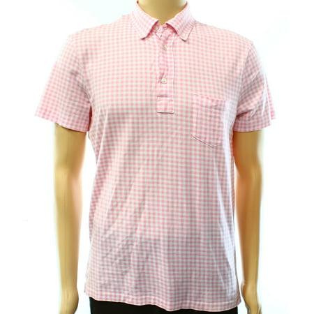 Ralph Lauren New Pink Mens Size Medium M Pima Cotton Check Polo Shirt