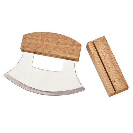 CGI Ulu Knife with Wooden Stand