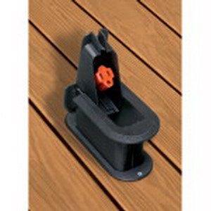 Thomas & Betts - (2 Pack) DKG Red Dot Non-Metallic Black Deck Grommet (Receptacle not included) (European Metallic Series Receptacle)
