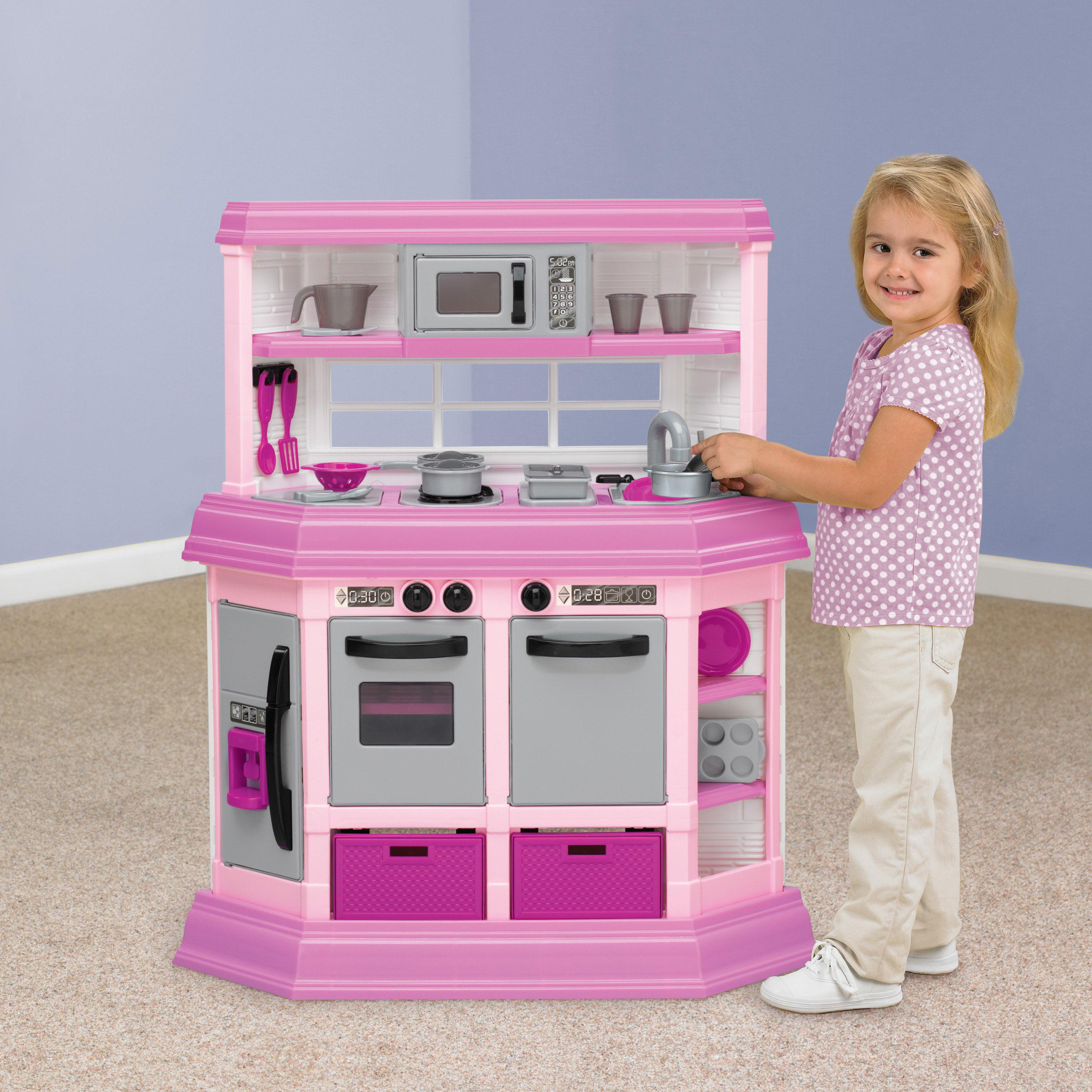 American Plastic Toys Deluxe Custom Kitchen With 22 Accessories    Walmart.com