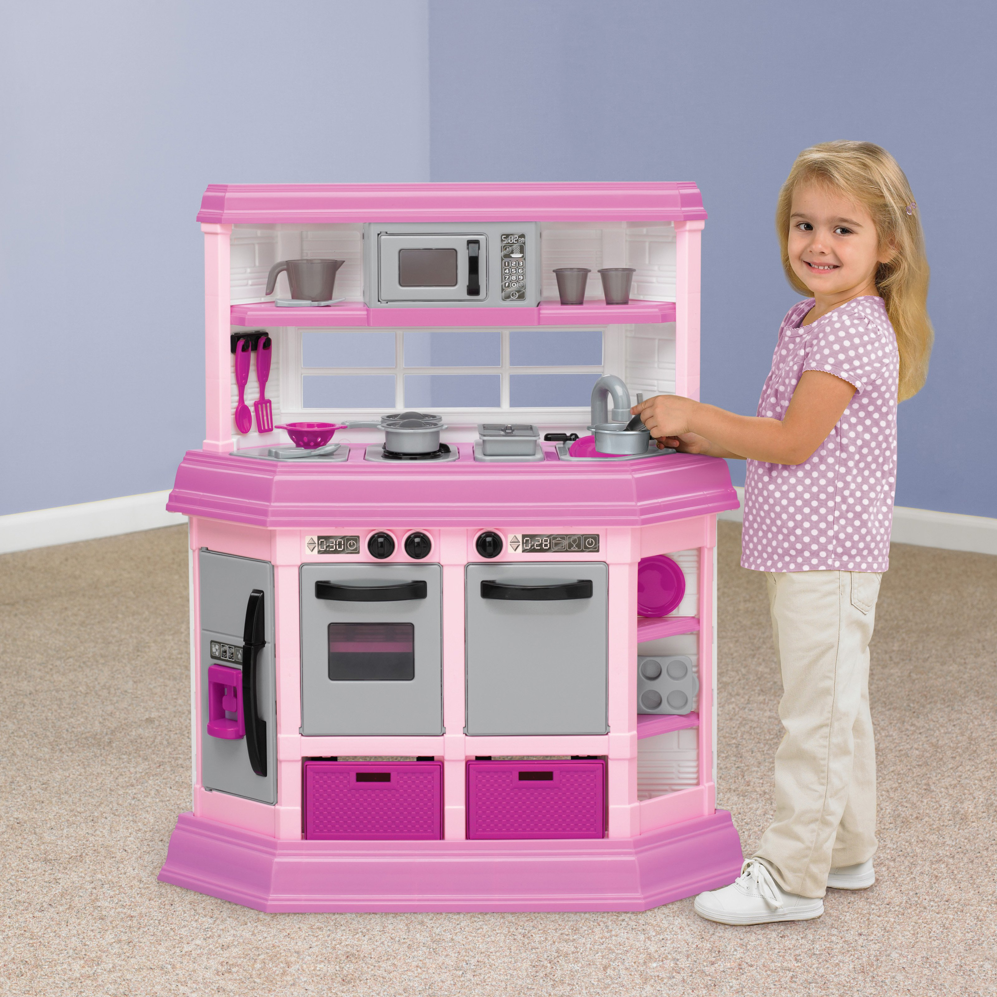 Marvelous American Plastic Toys Custom Kitchen Ft. 22 Accessories! Image 2 Of 5