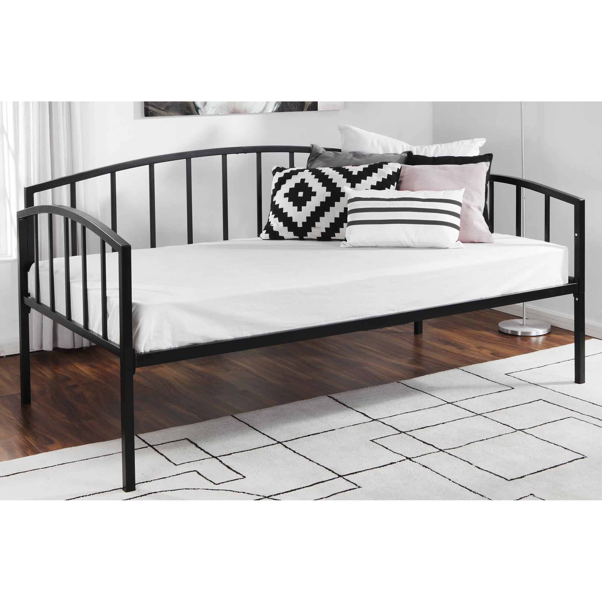 Mainstays Twin Metal Daybed, Black - Walmart.com