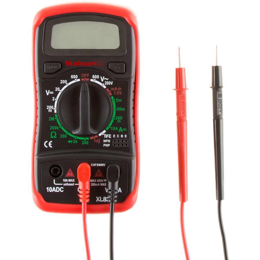 Stalwart Digital Multimeter Tester Volt Amp Ohm Frequency