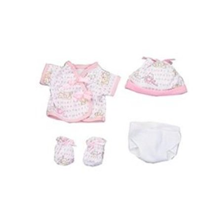 Dexter Toys Dex1504 Pink Clothing With Diaper For 15 In  Baby