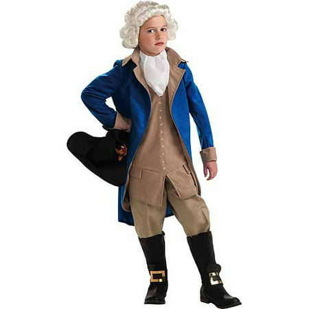 General George Washington Child Halloween Costume - Angel Costumes For Halloween For Kids