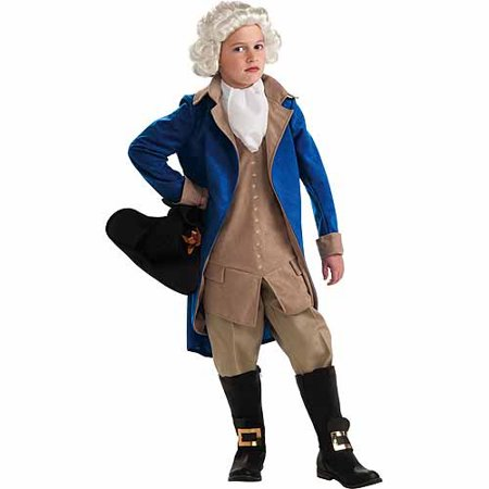 General George Washington Child Halloween Costume - Homemade Light Up Halloween Costumes