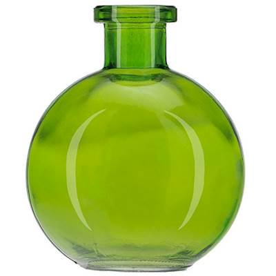 LIME GREEN 8.5 Ounce Ball Glass Vase - Courtneys Candles - Green Glass Vases