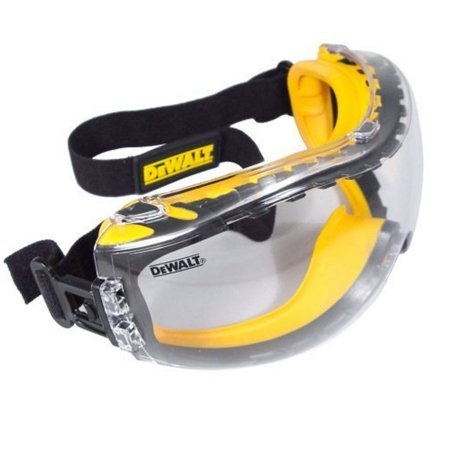 DeWalt Concealer Anti-Fog Dual Mold Safety Goggle,