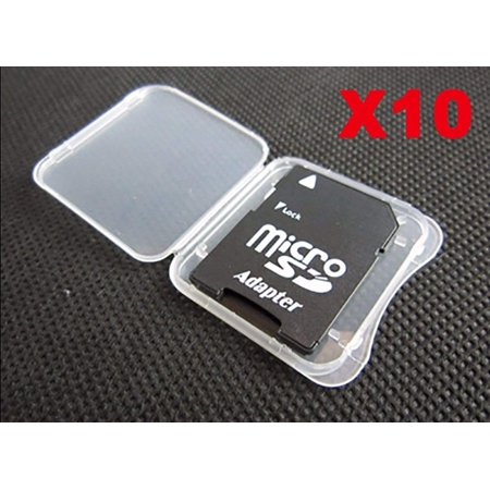 SD MMC/SDHC PRO Duo Memory Card Plastic Storage Jewel Case (10 Pieces), 10 pcs SD PRO DUO SDHC MMC Memory card cases By MemoryPack