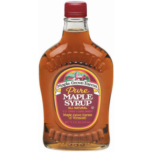 Maple Grove Farms Pure Dark Amber Maple Syrup, 12.5 oz