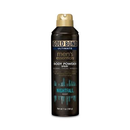 GOLD BOND Ultimate Men's Essentials Body Powder Spray, Nightfall Scent, 7oz (Kerri Bond)