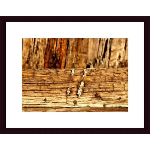 Printfinders Wood Abstract by John K. Nakata Framed Photographic Print